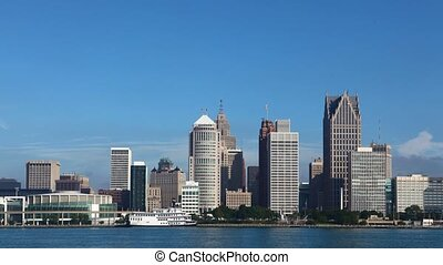Timelapse of the Detroit skyline - A Timelapse of the...