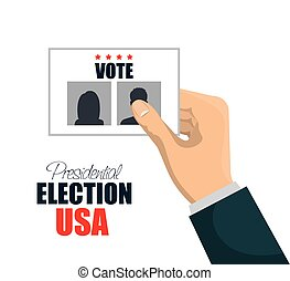 hand with vote election presidential graphic vector...