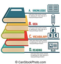 infographic education book graphic vector illustration eps...
