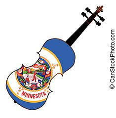 Minnesota State Fiddle - A typical violin with Minnesota...