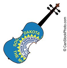 South Dakota State Fiddle - A typical violin with South...