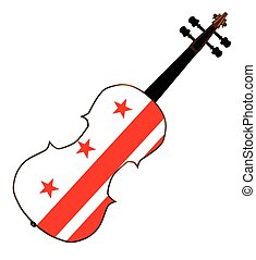 Washington DC Fiddle - A typical violin with Washington DC...