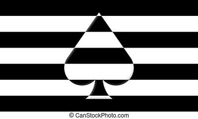 Spades - Suit of spades and background in stripes