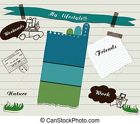 Vector scrapbook details set - scrapbook details set. vector...