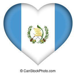 Flag of Guatemala Heart - Illustration of the flag of...