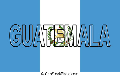 Flag of Guatemala Word - Illustration of the flag of...