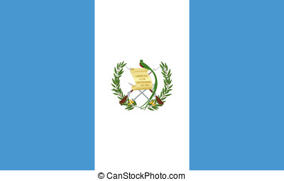 Flag of Guatemala - Illustration of the flag of Guatemala