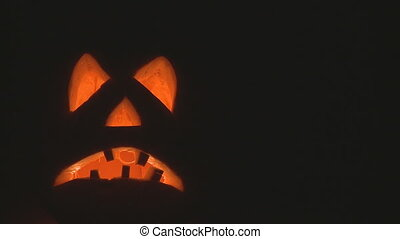 pumpkin candles - spooky halloween pumpkin with candles...