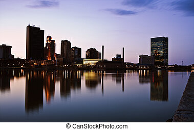 Toledo, Ohio - seen late evening.