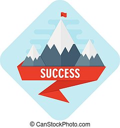vector mountain of success