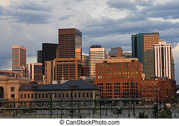 Denver late afternoon - Downtown Denver, Colorado late...