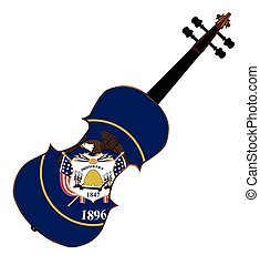 Utah State Fiddle - A typical violin with Utah state flag...