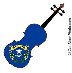 Nevada State Fiddle - A typical violin with Nevada state...