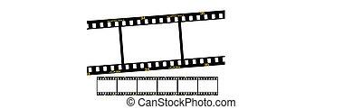 slide film strip - slide film or transparency strips,...