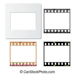 photos film frames - Set of slide mount, slide frame,...