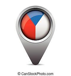 Czech republic - Czechia flag pointer vector