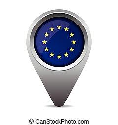 EU flag pointer vector