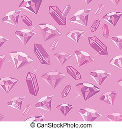 Gem Romantic Seamless Pattern - Romantic seamless pattern...