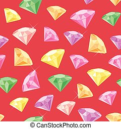 Gem Seamless Pattern - Seamless pattern made of colored gems