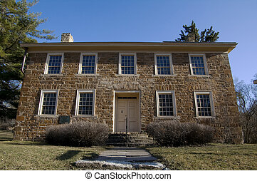 Faribault House Front - Photo of Jean Baptiste Faribault...