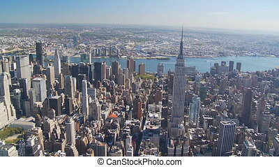 empire state building aerial view part I - aerial view of...