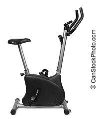 Exercise bile on white - An exercise bicycle isolated on...
