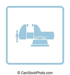 Vise icon. Blue frame design. Vector illustration.