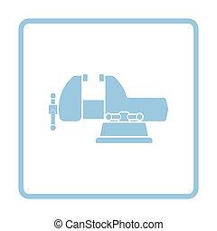 Vise icon. Blue frame design. Vector illustration.
