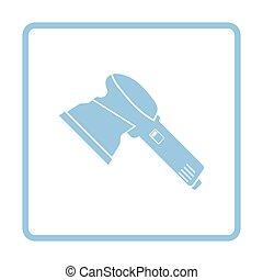 Grinder icon Blue frame design Vector illustration