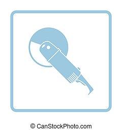 Grinder icon. Blue frame design. Vector illustration.