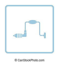 Auger icon. Blue frame design. Vector illustration.