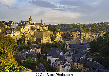 Superb aerial view from Cite Judiciaire, Luxembourg