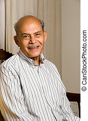 East Indian man - A portrait of a senior Indian man