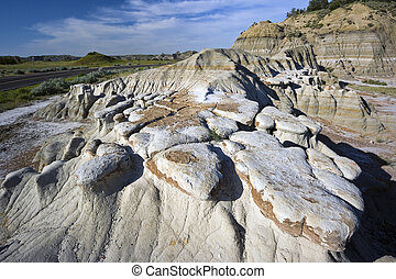 Badlands Formations in Theodore Roosevelt National Park -...