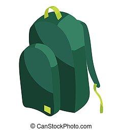 School bag icon, cartoon style - School bag icon in cartoon...