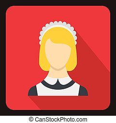 Maid icon, flat style