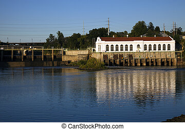 Dam in Wisconsin Dells, Wisconsin.