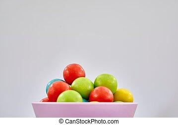 Gum Ball Candy - A studio photo of a gum ball candy
