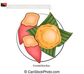 Coconut Kau Kau or Papua New Guinean Baked Sweet Potato -...