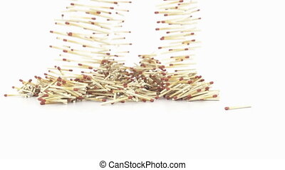 Falling Match Sticks 3D Animation - Falling Match Sticks -...