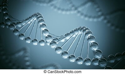 DNA model - looped animation - DNA model science Background...