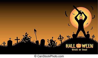serial killer in a graveyard