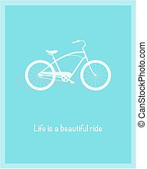 Bicycle vector illustration - Bicycle illustration. Life is...
