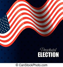 flag waving usa presidential election graphic vector...