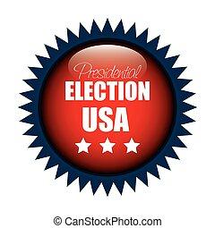 icon button presidential election usa graphic vector...