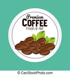 premium coffee beans graphic