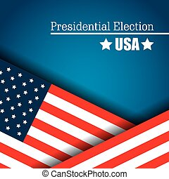 flag usa presidential election graphic vector illustration...