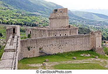 Rocca Maggiore, Assisi, Italy Rocca Maggiore dominated by...