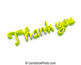 Thank you - 3d image, 3d text, Thank You, over white...