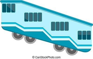 Color vector funicular on a white background. The element of urban transport design. Design